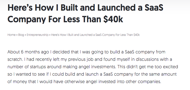 Built a SaaS Company From Scratch